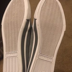 Tommy Hilfiger Shoes - Women's gray suede Timmy Hilfiger slip ons